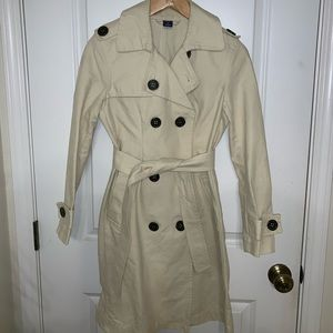 GAP cream trench coat
